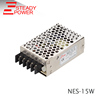 high efficiency 15w 5v 3a unit ac / dc industrial switch power supply NES-15-5