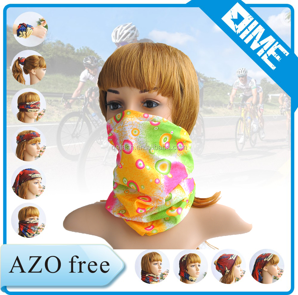Original Polyester Seamless Tube Bandana with AZO free /SGS TEST