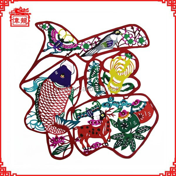 Chinese christmas decor folk craft art of paper cutting AD971