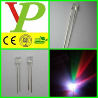 High Brightness Water Clear 3mm 5mm Flat top Flashlight led