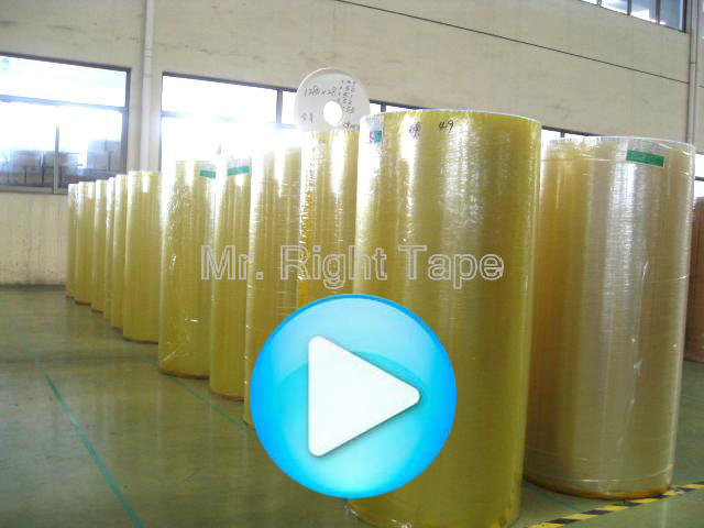 bopp packaging adhesive tape film jumbo roll with size 1280mmX4000mm