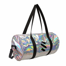 New product waterproof travel sport iridescence PU duffle bag with hidden interior pocket