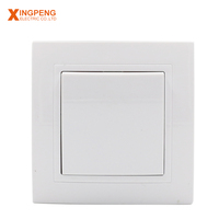 Color electrical concealed installation european 1 gang 1 way wall socket and switches
