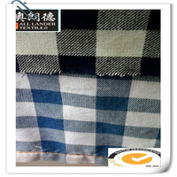 factory direct sale check denim fabric, hotsale black and white plaid denim fabric