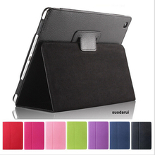 High Quality Stand Luxury Leather Case For iPad mini 3 Matte Inside Protect Cover
