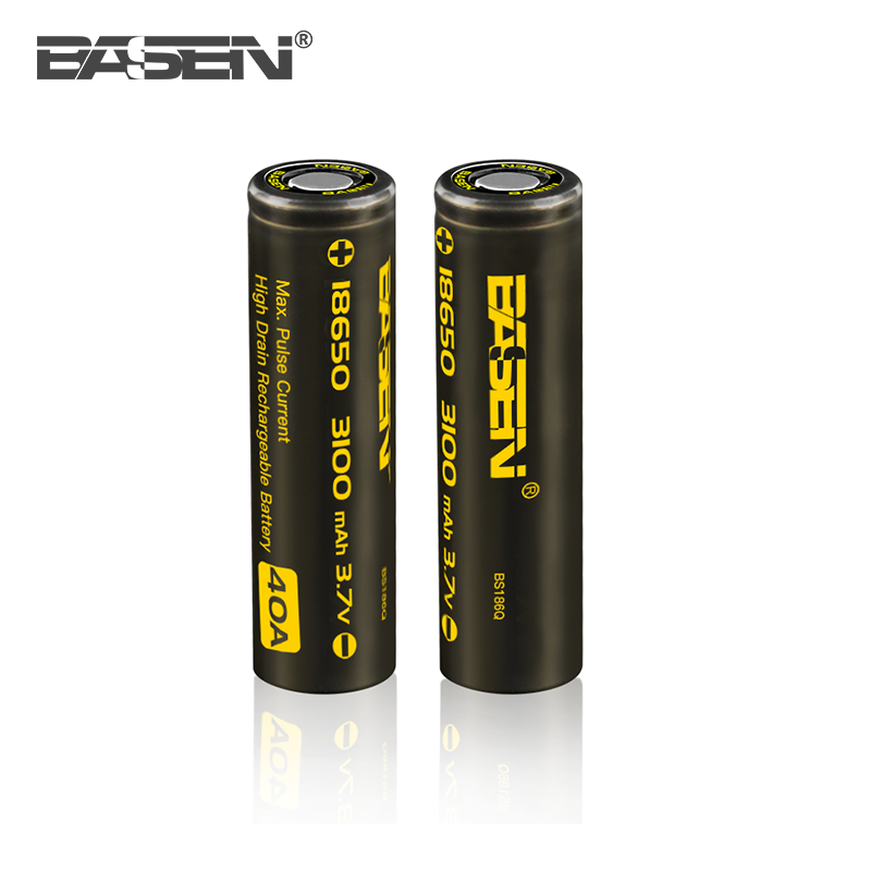 BASEN Li ion 18650 3.7V battery Basen 18650 3100mah lithium rechargeable bettery 18650 li ion battery