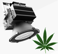 B&R Full Spectrum 500W LED Grow Light for Hydroponics with UL DLC
