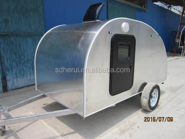 Aluminium small caravan teardrop travel camper trailer