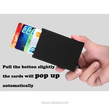 RFID Blocking Money Clip Aluminum Slim Pop-up Wallet Card Holder