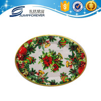 New decorative oval christmas plastic tray ,Paper transfer tray,Charger Plates
