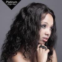 VV Fashion 2014 Remy Weaving Stores Sell Human Brazilian Virgin Hair Natural Curly Lace Wigs