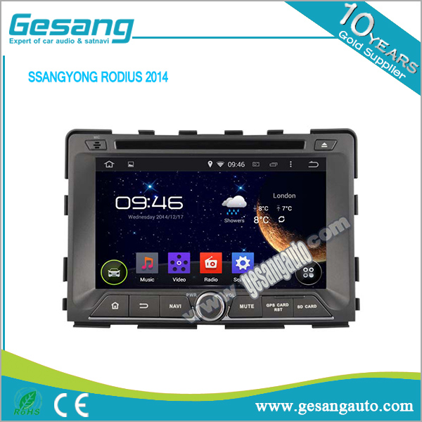 Gesang factory car car multimedia systme car radio and dvd player for SSANGYONG RODIUS 2014