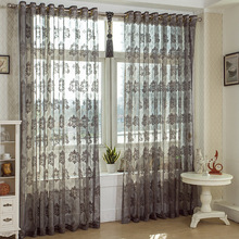 wholesale new design warp knitting jacquard lace curtain fabric