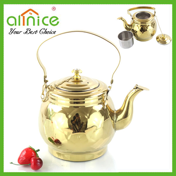 Gold plating iranian samovar/teapot samovar/turkish tea kettle samovar
