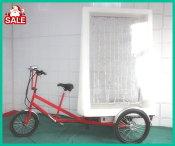 electric advertising tricycle with LED light