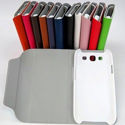 Hot sell briefly flip leather case varied stand cover for sumsung galaxy s4