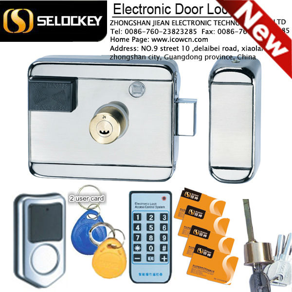 New Launch Safe Swipe M1 Card Stainless steel keyless mortise door locks Intelligent Electronic Door Lock (LY09BM8B1)