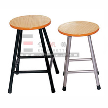 Wholesale Classic Round Cheap Labrotary Wood Stool with Footrest for Home/Lab