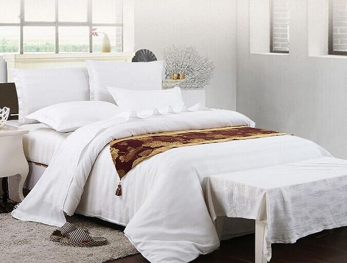 100% High quality cotton plain dyed white hotel design bedding sets,hotel bed linen,hotel textile products