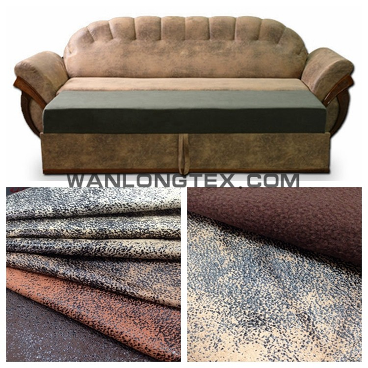 Micro bronzed suede upholstery fabric for antique furniture