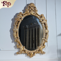 antique hand carved wood furniture -french style furniture-Rubber wood mirror