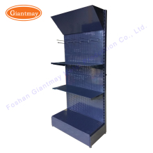 Hot sales customized metal perforated peg board panels display racks for hanging kitchenware garden tools