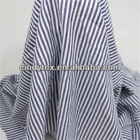 40*40 drapery soft yarn dyed cotton blue stripe suit fabric