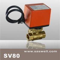 two way fcu Motorized brass ball Valve for cooling and heating