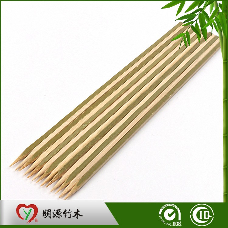 Custom Low Price Barbeque Bamboo Knot Skewer 15cm
