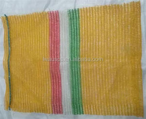 Plastic PP HDPE Woven Leno Raschel Mesh Bag For potato, Onion, fruit