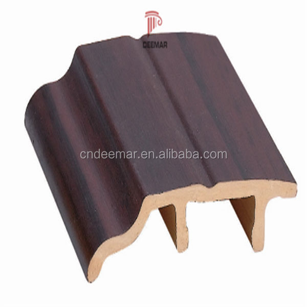 PVC skirting decorative skirting board /wood plastic composite skirting board