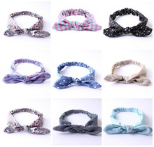 Infant Baby Girls Polka Dots Bowknot Elastic Headbands Children Headwear Baby's Hair Accessories for Party Birthday Gifts