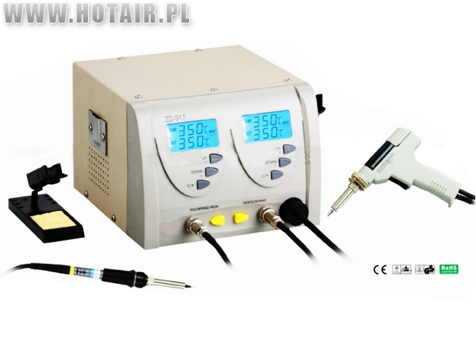 Desoldering station - solder extractor and soldering iron ZD-917