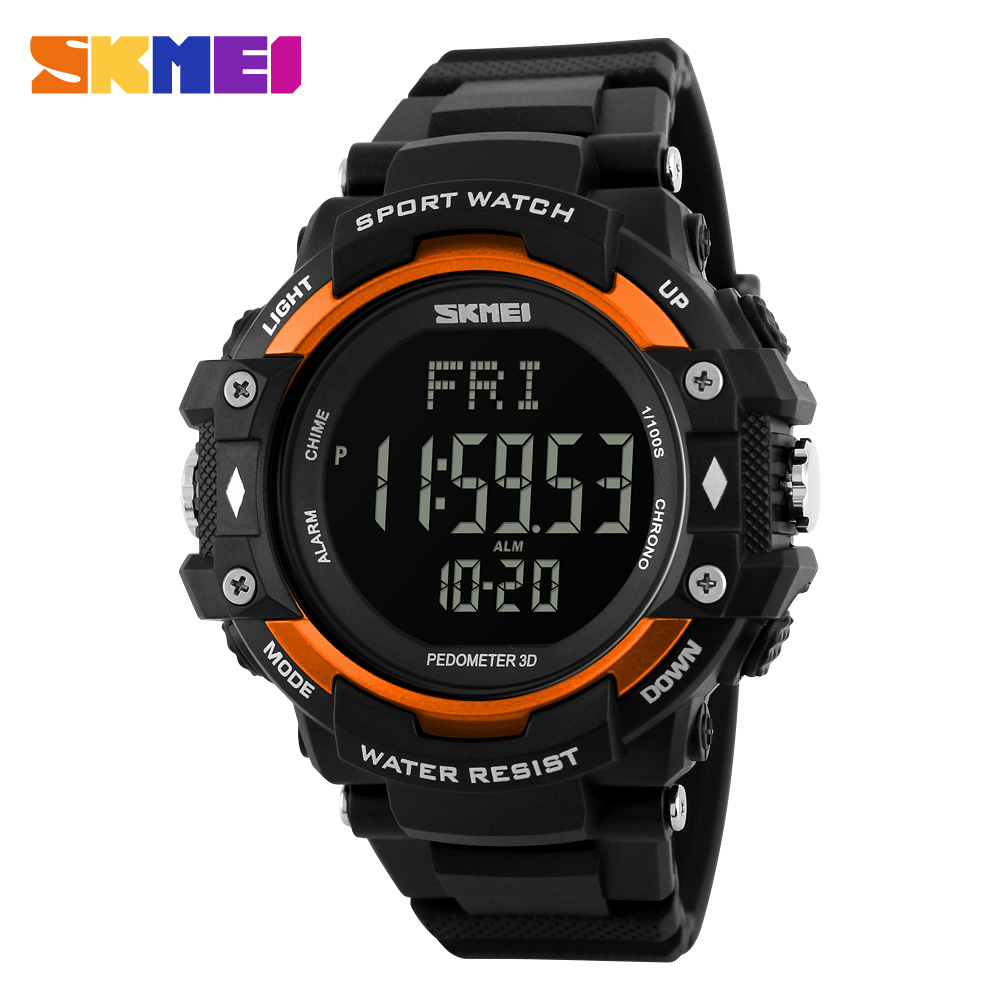 2017 Alibaba Skmei 1180 Pedometer 3D multifunction watch waterproof heart rate watch