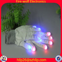 Small Order Quantity Glow Light Glow Finger Gloves Party Manufacturer