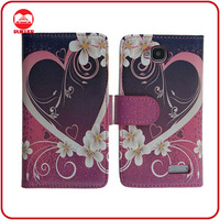 RF Manufacturer With Card Slots Printing Leather Stand Flip Wallet Case Cover for Alcatel One Touch Idol Mini OT 6012