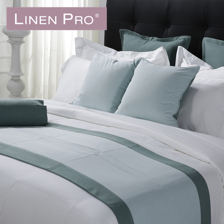 LinenPro 800TC 100% Cotton Hand Made Embroidery Bed Sheet 5 Star Luxury Hotel Bedding Set