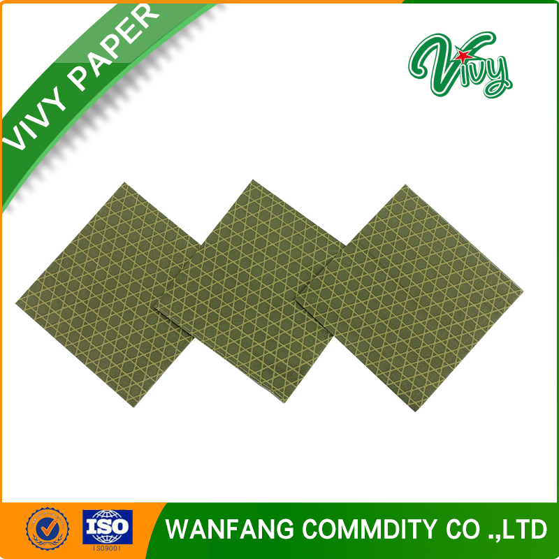 Manufacturers pre-folding decoupage party paper napkins