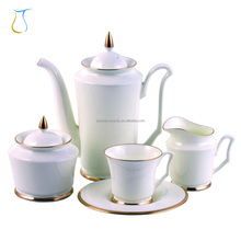 Royal classic Silver or Gold plated Porcelain Fine bone china Coffee tea set for Pakistan