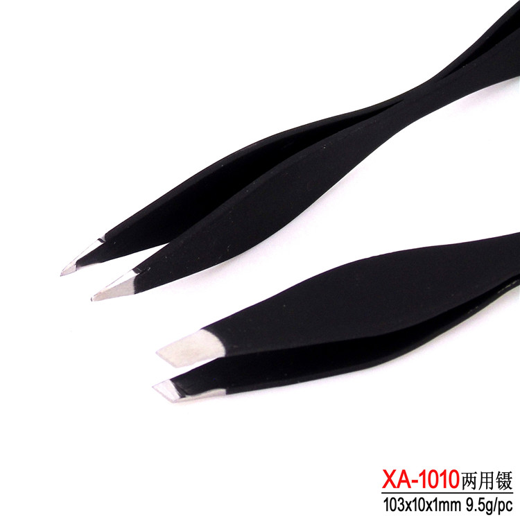 Colorful Eyebrow Tweezers Black Eyebrow Tweezer Red Eyebrow Clippers EBT-023