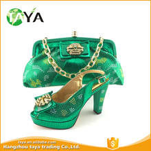 Silver party shoe with matching bag italian designshoe and bag match for african party