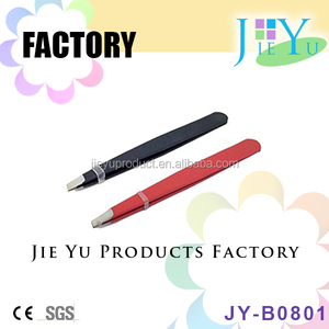 Wholesale beauty cosmetic tool tip eyebrow tweezers