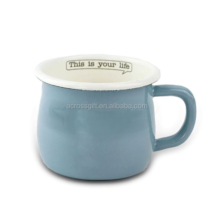 Hot Sale Personaized Handmade Color Glazed Home Decorative Ceramic Enamel Water Tea Cup