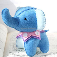 Handmade Sewing Felt Needlework Kit Elephant