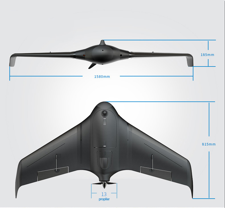 FeiyuTech Unicorn new fixed wing uav drone plane solution for aerial surveying and mapping