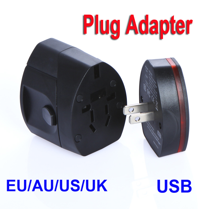 Free shipping Universal Travel Dual USB Power Supply Socket Plug Adapter Charger US/EU/UK/AU Dropshipping Wholesale