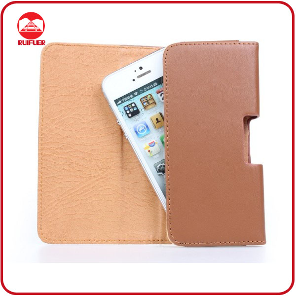 High Quality Deluxe Brown Holster Belt Clip Pouch Leather Case Cover for iphone 5 5S 4 4S