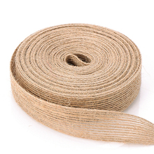 Rustic <strong>Organic</strong> Braided Jute Linen Flat Tape Rope Craft hessian Twine String Thick DIY Tools