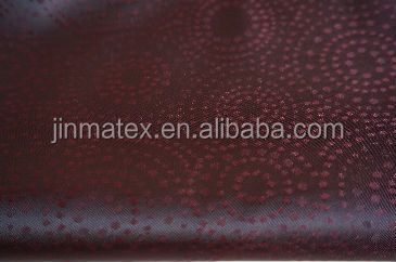 Round dot style polyester viscose Jacquard fabric 7 colors