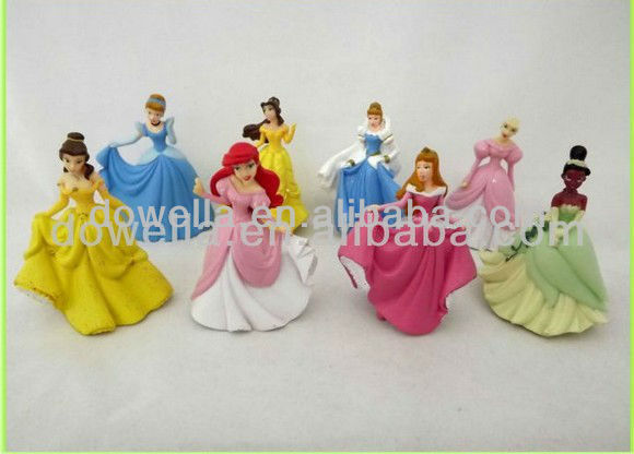 Hot sell Small Plastic/PVC Princess Figurine Toy